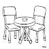 Desenhos - Mesa com Cadeiras - Colorir e Pintar