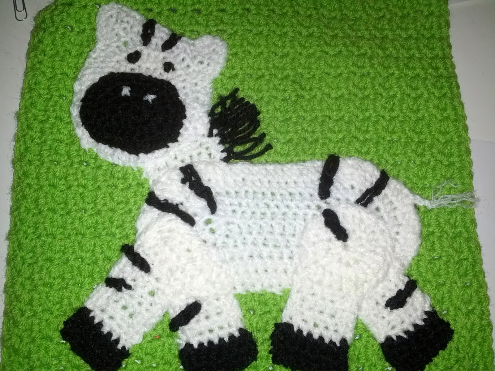 Crochet Zebra Blanket : Blooming Lovely: WIP - Crochet Zoo Blanket - Zebra Applique