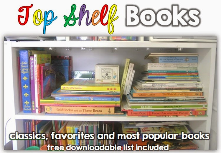 Top Shelf Books: A list of children's classics, favorites and most loved books free download of book list included Clever Classroom blog