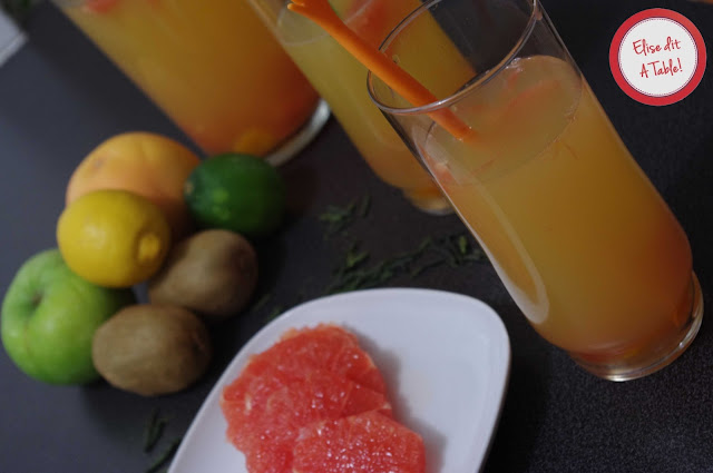 thé à l'orange et au pamplemousse
