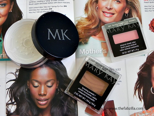 review mary kay bronzer, cheek blush, translucent powder