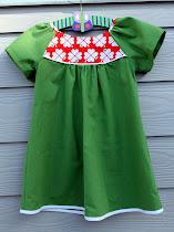 Grøn Graziela kjole