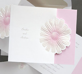 Daisy wedding card