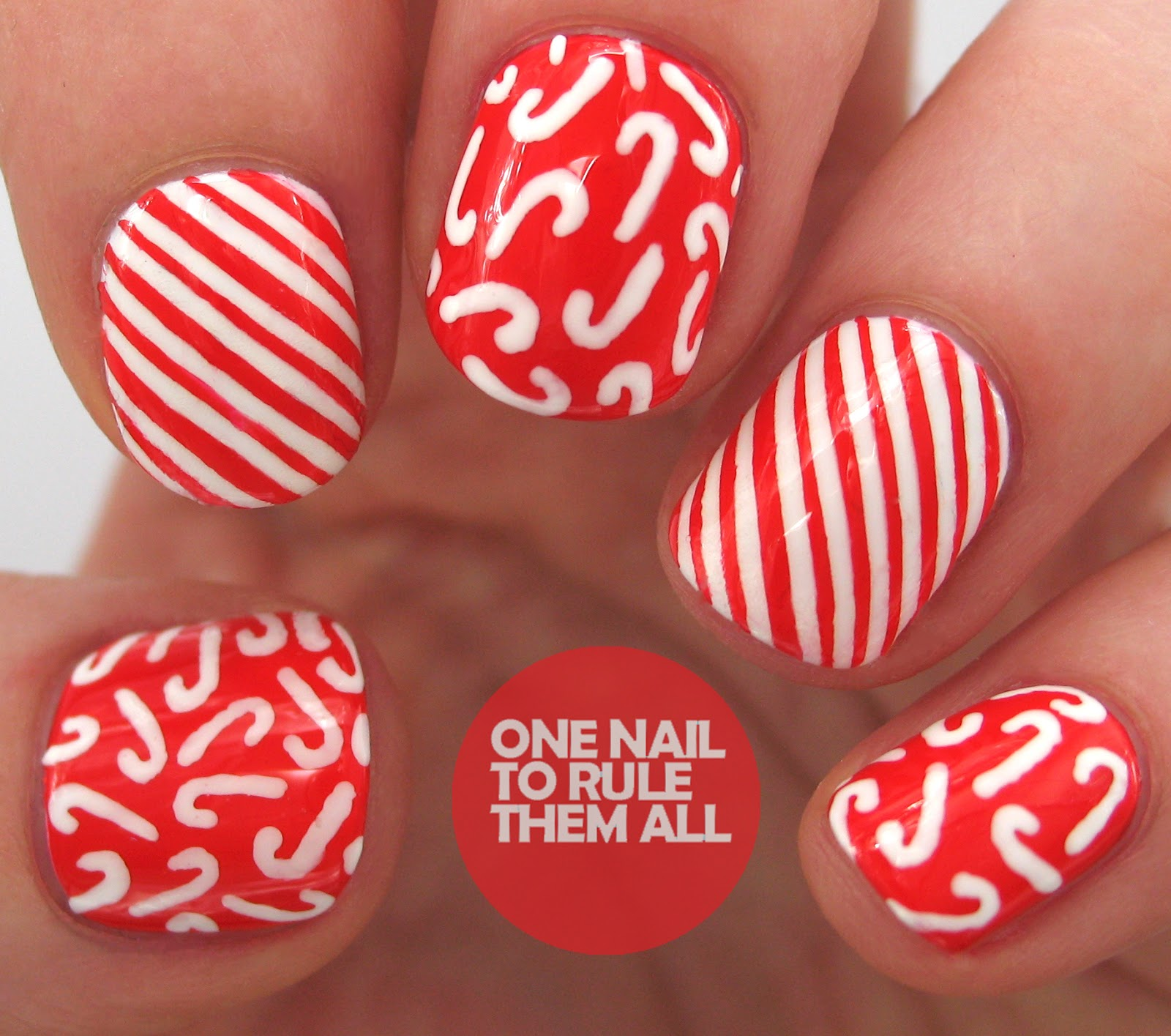 One Nail To Rule Them All Tutorial Thursday Candy Canes