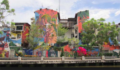 Broudos unplugged sleepy backwaters of melaka malaysia for Mural 1 malaysia negaraku