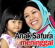 Berita : Anak Pelakon Safura Meninggal Dunia..