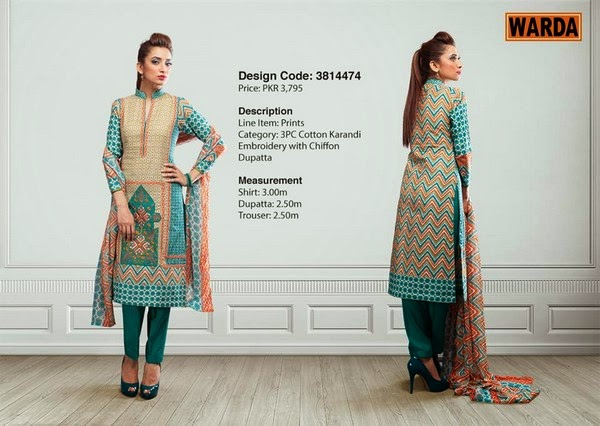 Winter's Grace Warda Designer Dress Collection 2014