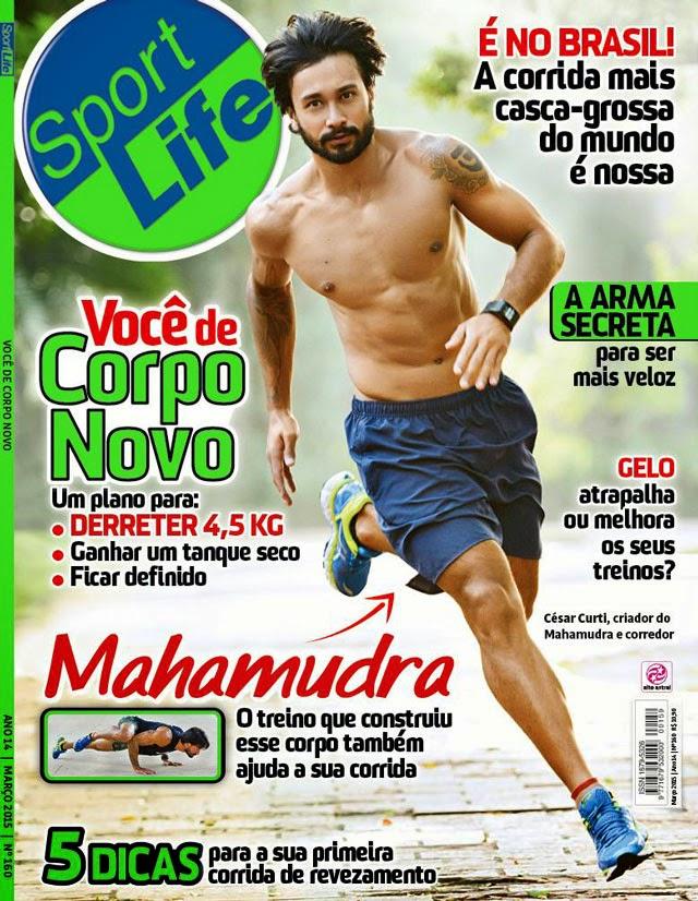 César Curti estampa capa da Sport Life de março e exibe o físico sarado. Foto: Divulgação