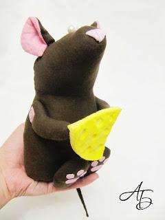Мои любимые игрушки, текстильная игрушка, мышь