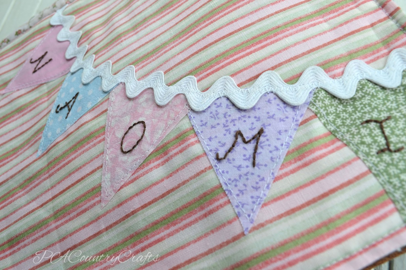 Name Bunting Quiet Book Page