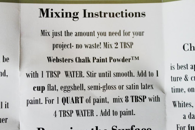 chalk paint powder
