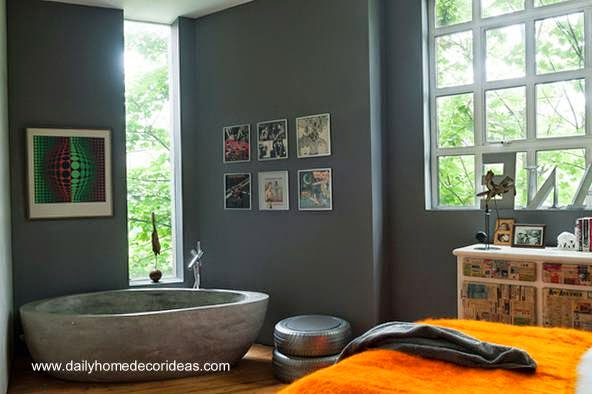 Tinas De Baño De Concreto:Arquitectura de Casas: Modernos baños integrados al dormitorio