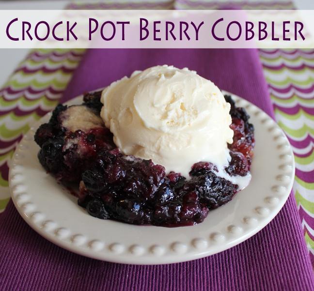 Simple Details: crock pot berry cobbler...