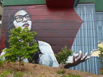 Pillars Park, Bees Mural, Capitol Hill