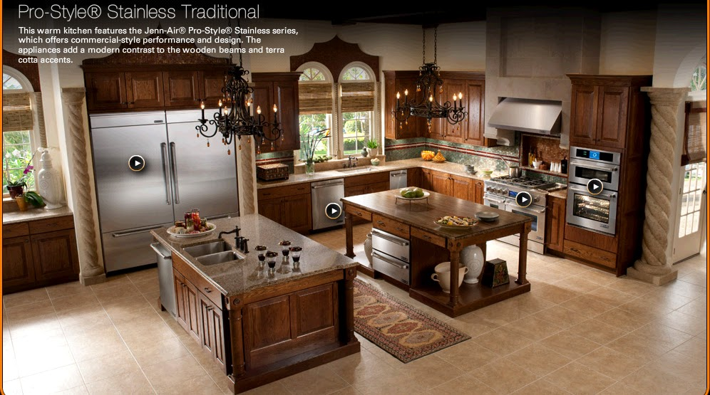 Texas young love old world charm - Luxurious kitchen appliances ...