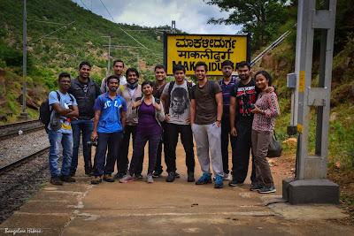 Makalidurga trekking, group photo