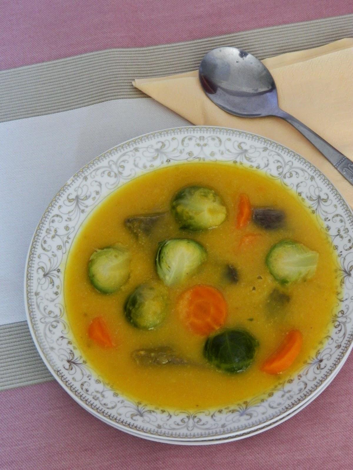 Supa de vita cu varza de Bruxelles