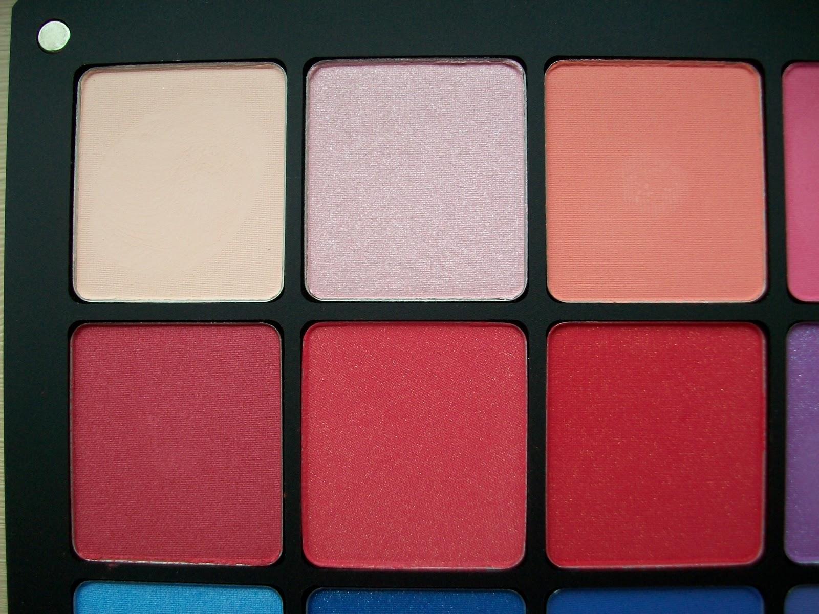 Maz Makeup Inglot Purple Pink U0026 Red Freedom Eyeshadow Palette - Review U0026 Swatches