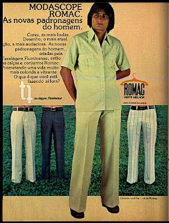 Anúncio romac de 1970; 1970; moda anos 70; propaganda anos 70; história da década de 70; reclames anos 70; brazil in the 70s; Oswaldo Hernandez