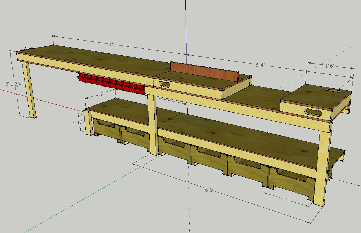 Custom workbench plans images for Custom garage design