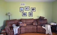 hanging framed photos