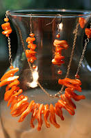 Tangerine tango challenge: Gipsy set (mother of pearl, sterling silver - necklace, bracelet, earrings) :: All Pretty Things