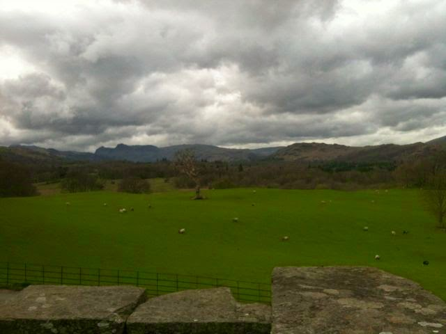 Langdales from Wray Castle