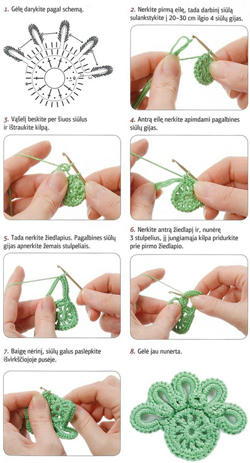 Crochet Flowers Diagram 1