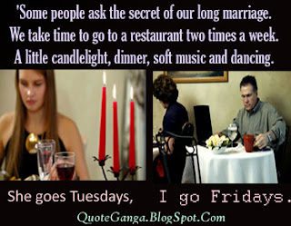 Secret of happy marriage