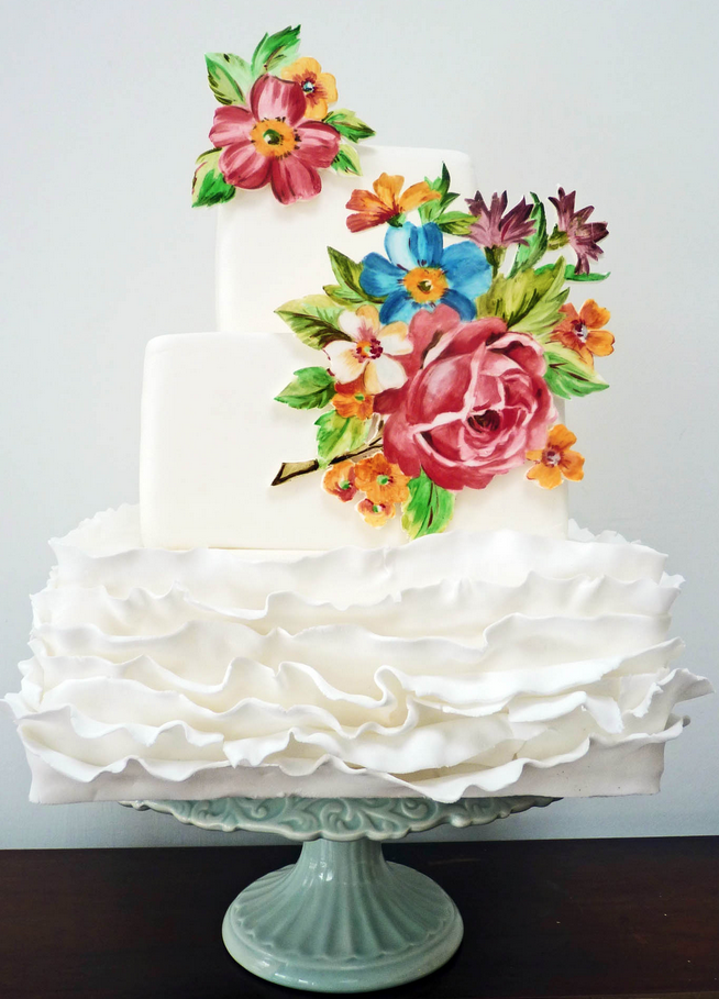 hand painted cake from Nevie-Pie Cakes