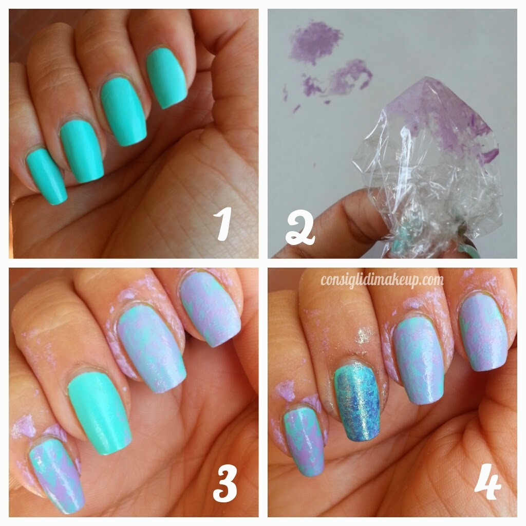 nail art effetto marmo