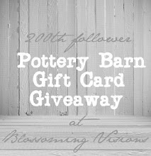 200th Follower Giveaway - Pottery Barn
