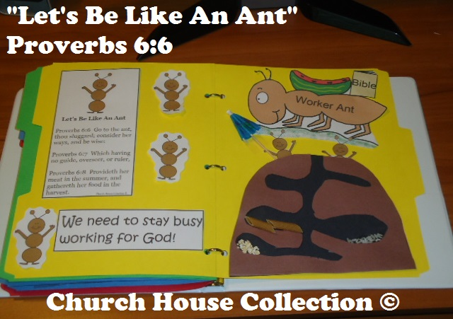 Church house collection blog let 39 s be like an ant for Crafts for children s church
