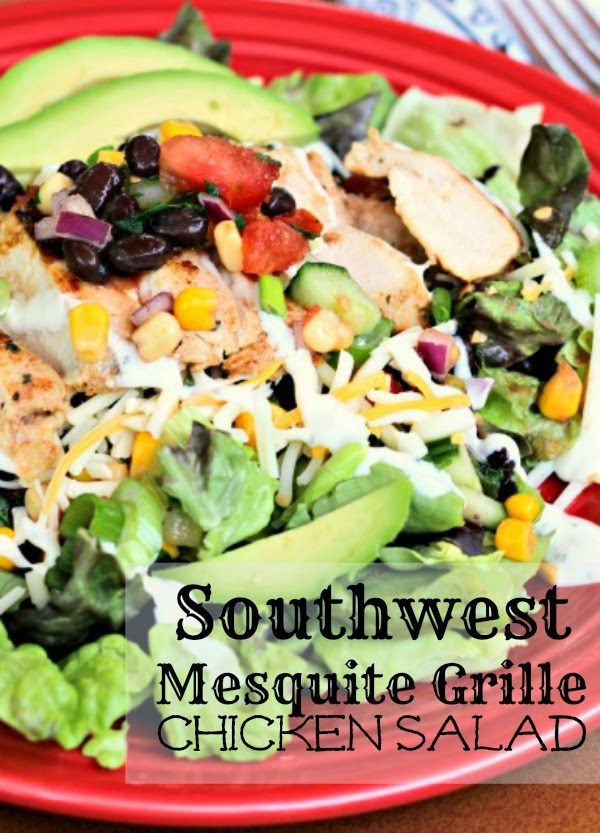 Southwest Mesquite Grille Chicken Salad: Quick and easy dinner option featuring  Perdue® Perfect Portions® Mesquite Grille Chicken Breasts #chicken #perfectportions
