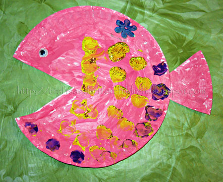 Crafts~N~Things for Children: Paper Plate Fish Kids Craft