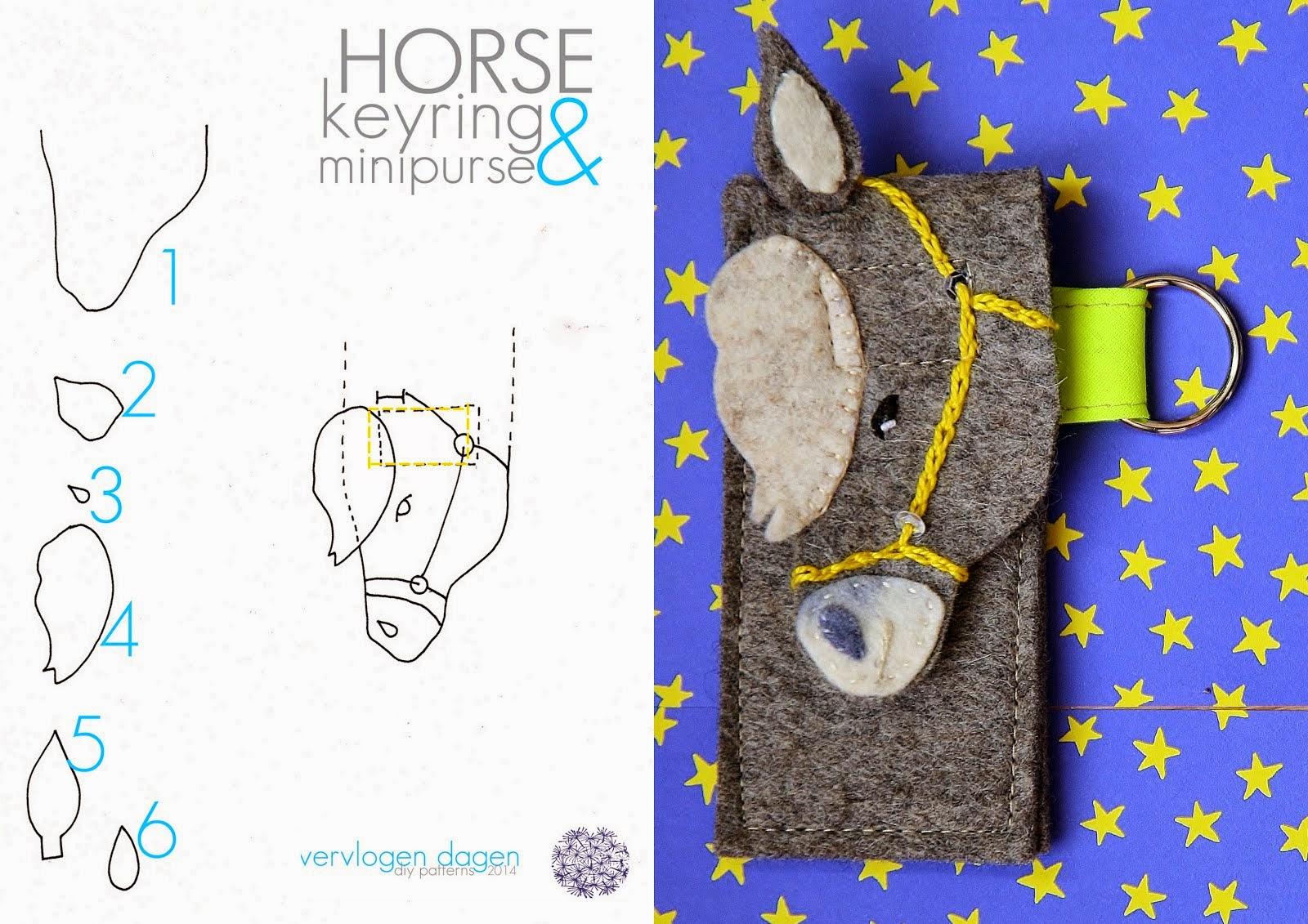 horse mini purse