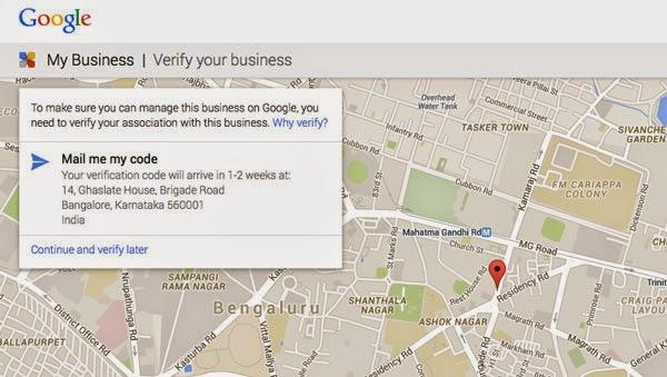 Google Verification code for your massage business
