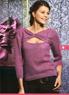 http://www.vyazemsami.ru// Блуза с перекрученной кокеткой