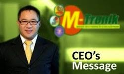 Presiden Direktur dan CEO M-Tronik