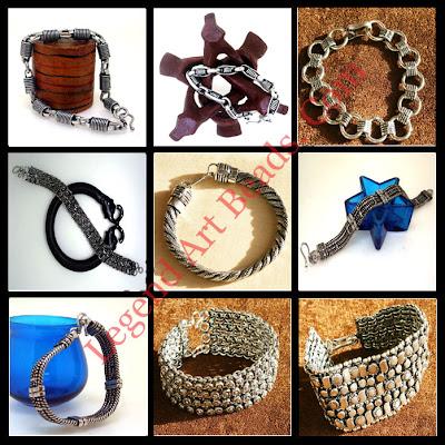Stretch Oxidized Sterling Silver Beaded Bracelets
