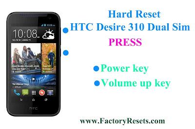 Hard Reset HTC Desire 310 Dual Sim