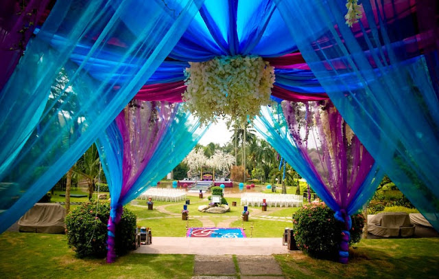outdoor wedding garden