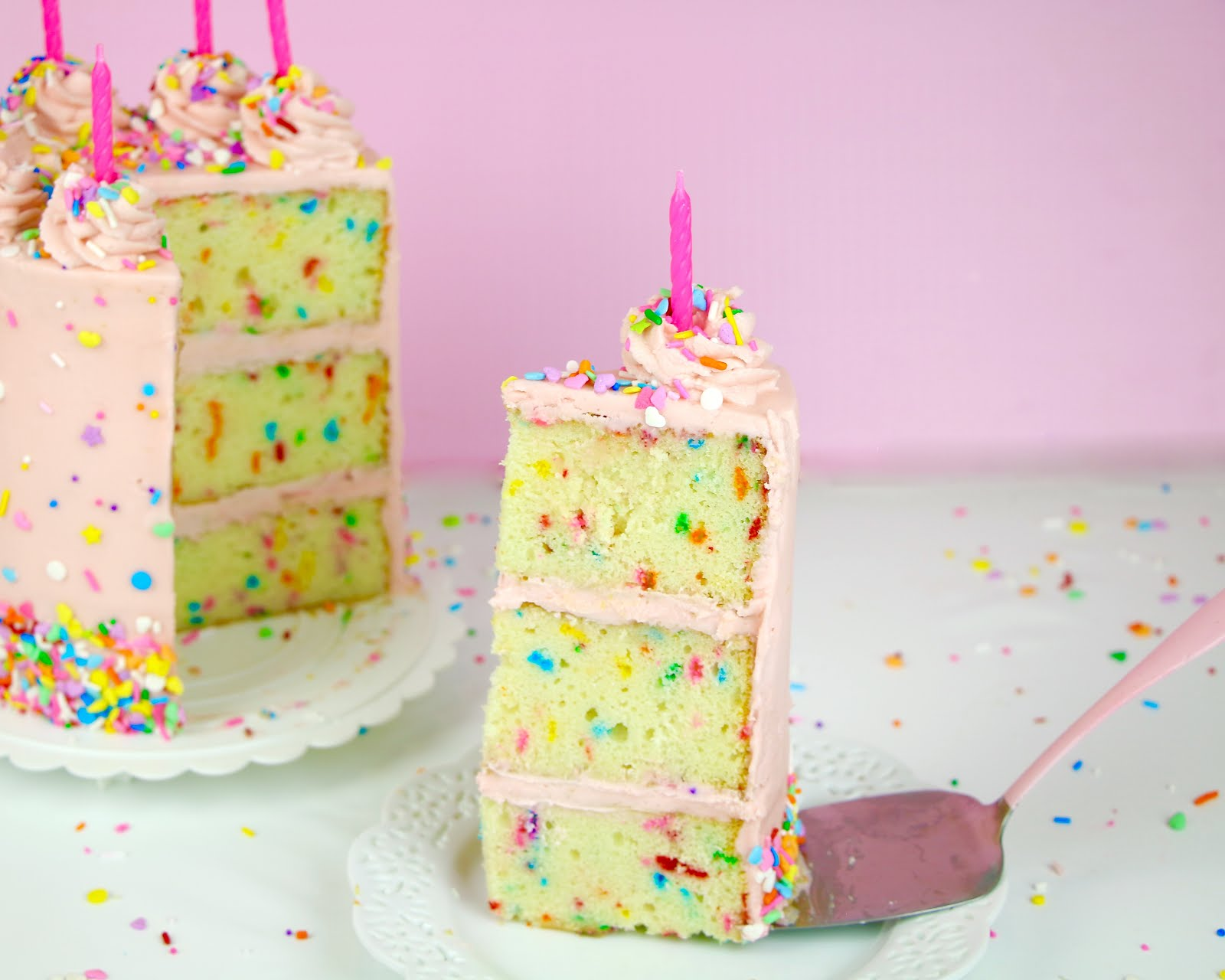 Video The Best Homemade Funfetti Layer Cake From Scratch Lindsay