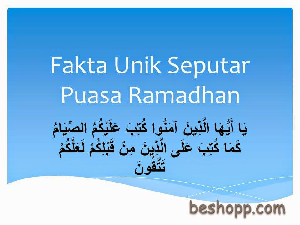Fakta Unik Seputar Puasa Ramadhan