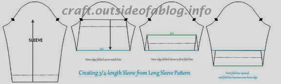 sleeve alteration | 3/4-length sleeve