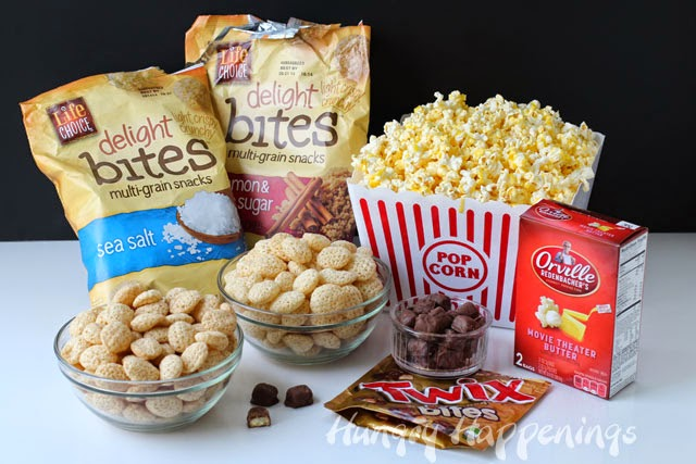 Peanut Butter Twix Bite Popcorn ingredients