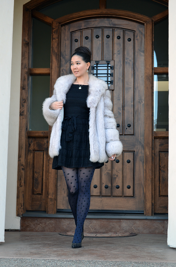 what to wear with fur coat