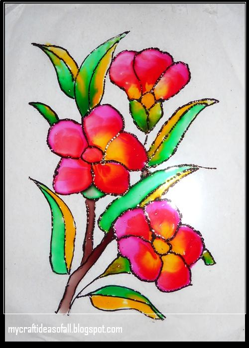 Mycraftideasofall glass painting for Simple glass painting pictures