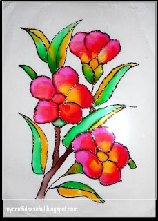 Simple glass painting pictures