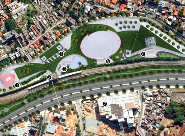 Site plan for the site of new tallest building in Latin America